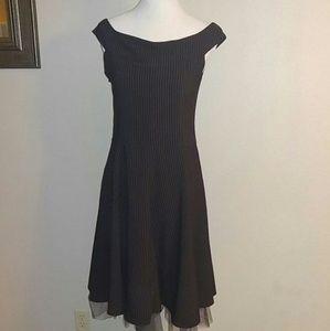 Morbid threads med vintage pinstripe swing dress